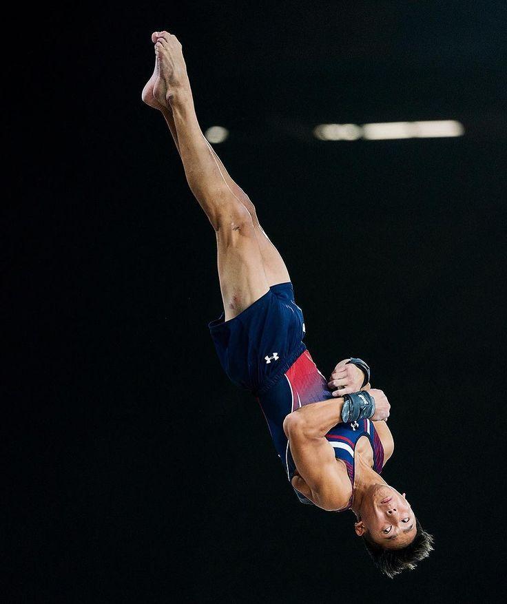 Yul Moldauer of the USA keeps an eye on the vault during the World Gymnastics Championships. #montreal #MTL2017GYM #sonya9 #a9 #sports #gymnastics #flip #flying #goingforgold