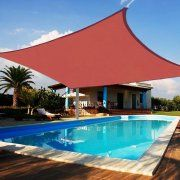 16' Square Sun Shade Sail Uv Blocking Outdoor Patio Lawn Garden Canopy Cover Image 1 of 6