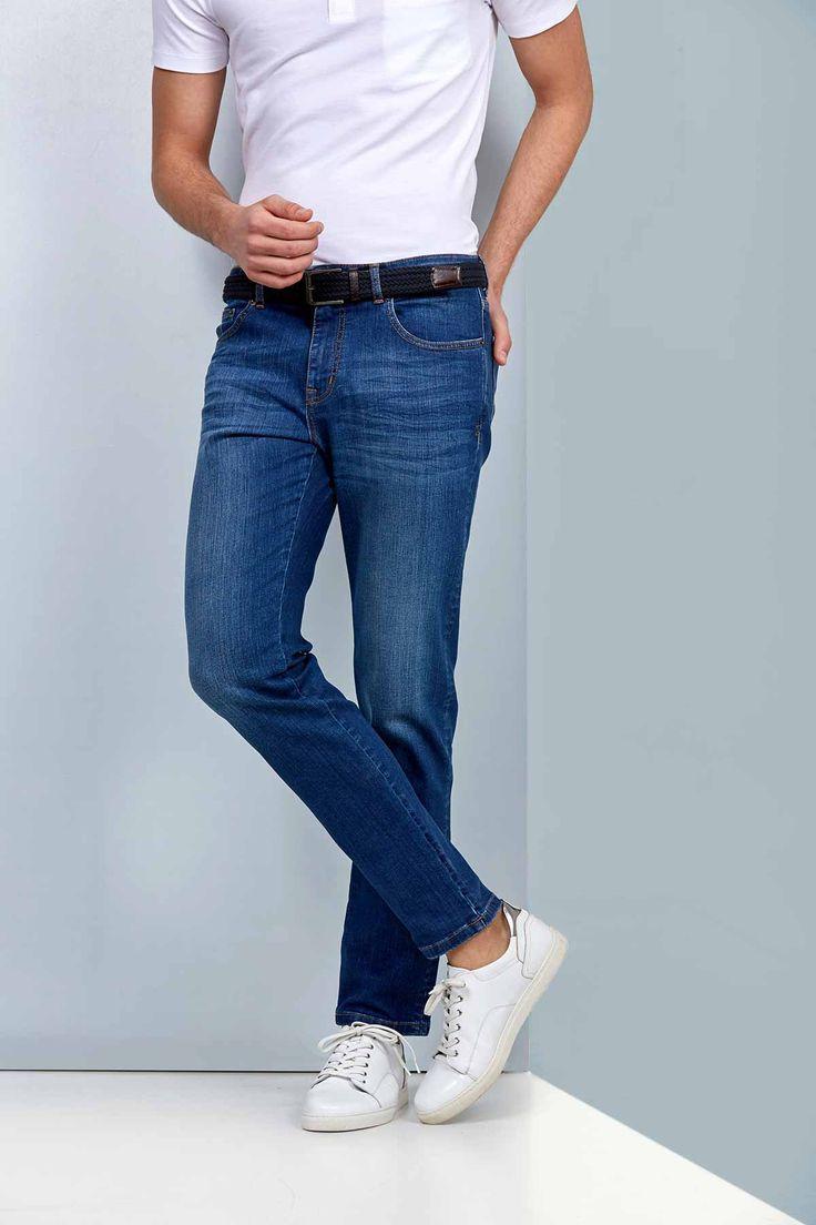 Açık Indigo 5 Cep Denim Pantolon