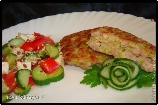 Кулинария Мастер-класс Рецепт кулинарный Оладьи мясные с кабачком Продукты пищевые фото 1