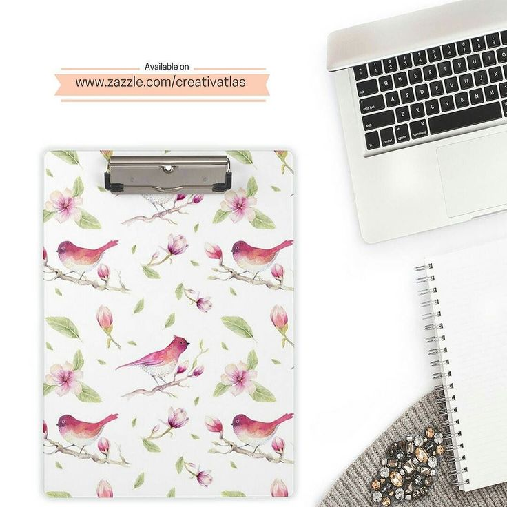 """PRODUCT : Vintage Pink Watercolor Magnolia Flowers and Bird Clipboard  BUY FROM : http://ift.tt/2dND4zq  STORE CATEGORY : Office  COLLECTION : Vintage Pink Watercolor Magnolia Flowers and Bird  DESCRIPTION :  Stay organized and stunningly stylish with these clipboards. The vintage magnolia flowers and bird print has transformed this basic office/school supply into a stunning accessory that will keep you on track always!  Dimensions: 12.5""""l x 9""""w; thickness: 0.125"""" Designed for letter and A4…"""