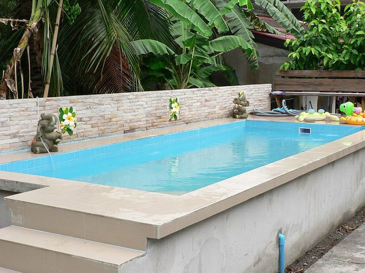 Ordinary above ground swimming pools marvellous rectangle for Above ground pool decks for small yards