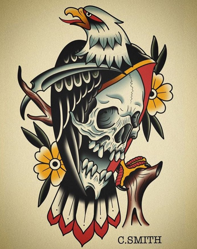 Pin By Michael Olsen On Art Traditional Tattoo Art Traditional Eagle Tattoo Old School Tattoo Designs