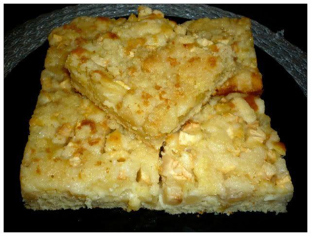 omenapiirakka.  Finnish Apple Pie/cake.  Top with ice cream or vanilla cream.  Thanks to google translate I will be making this later today :)