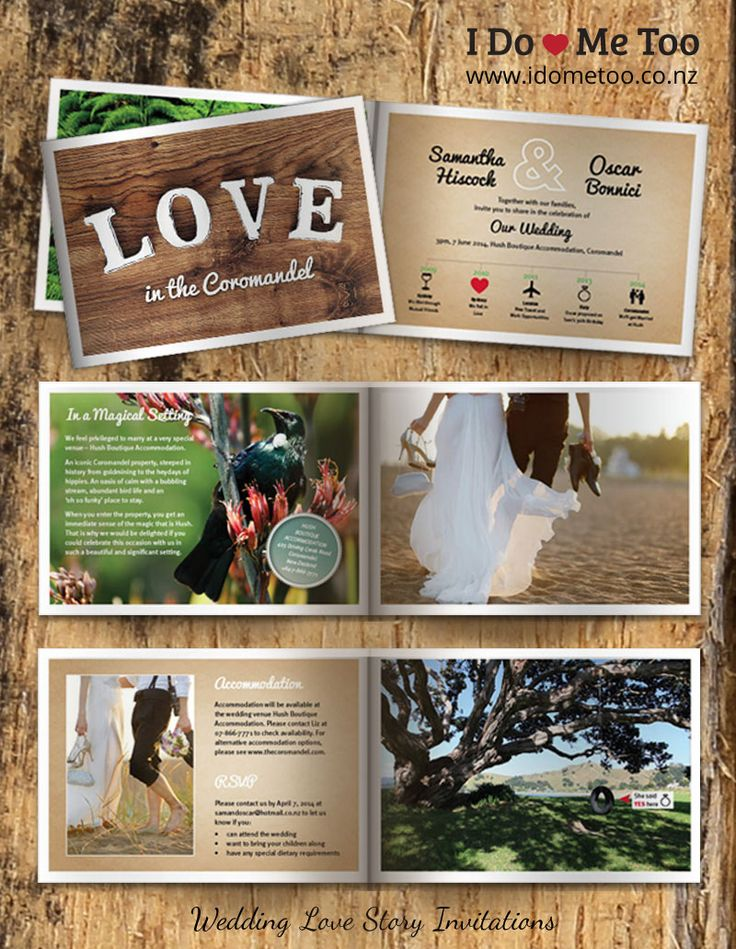 Love, Land and Sea Theme Wedding Invitation Style.  Are you very connected to a special part of the country? Do you want to try to capture the fresh feeling of walking in native bush or the force of waves crashing against your favorite beach? Perfect for nature lovers or people with a very special venue location to showcase...
