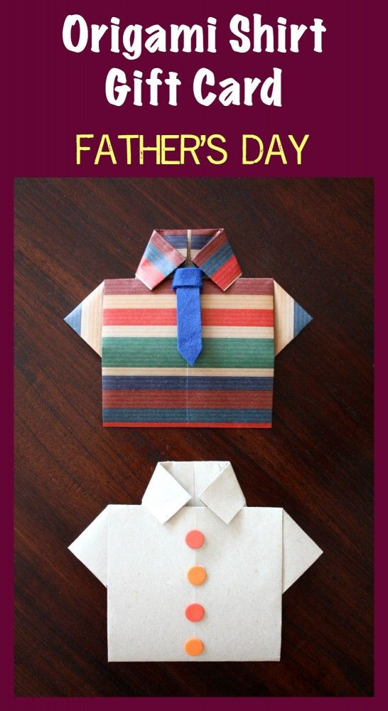 Super Fun Origami Shirt Gift Card For Dad Easy Step By Step Photo Tutorial Included Origami