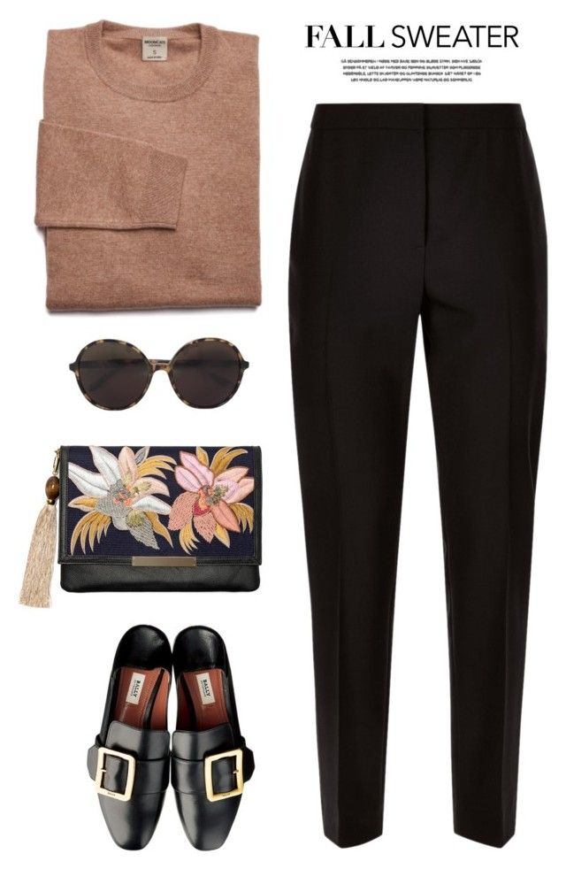 """Fall sweater"" by yexyka ❤ liked on Polyvore featuring Jaeger, Lizzie Fortunato and Valentino"