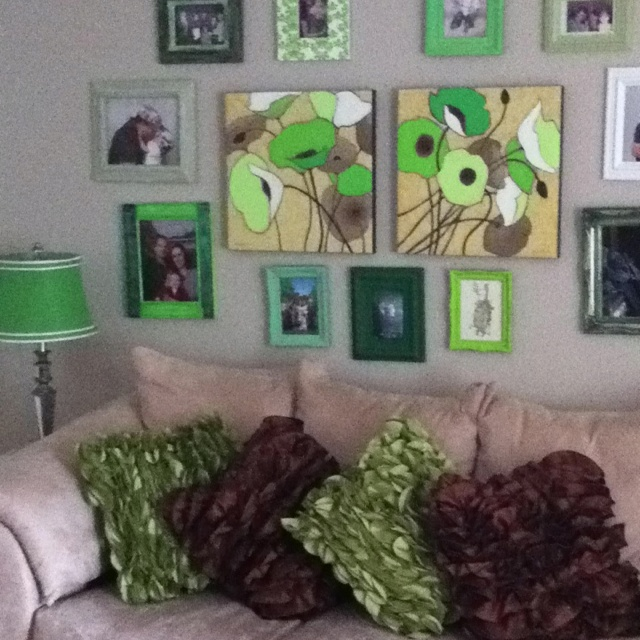 Green and brown living room living room pinterest for Green and brown living room