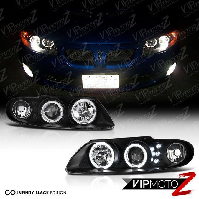 2004 2005 2006 Pontiac GTO Black LED Halo Angel Eye Projector Headlights LS1 LS2 #VIPMOTOZ