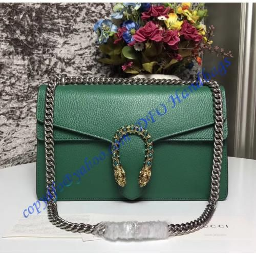 Gucci Dionysus Green Leather Medium Shoulder Bag …