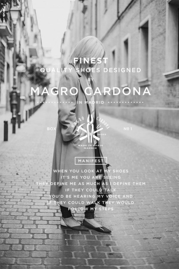 Branding project by Mark Brooks for Magro Cardona, a Madrid based high-quality footwear brand.