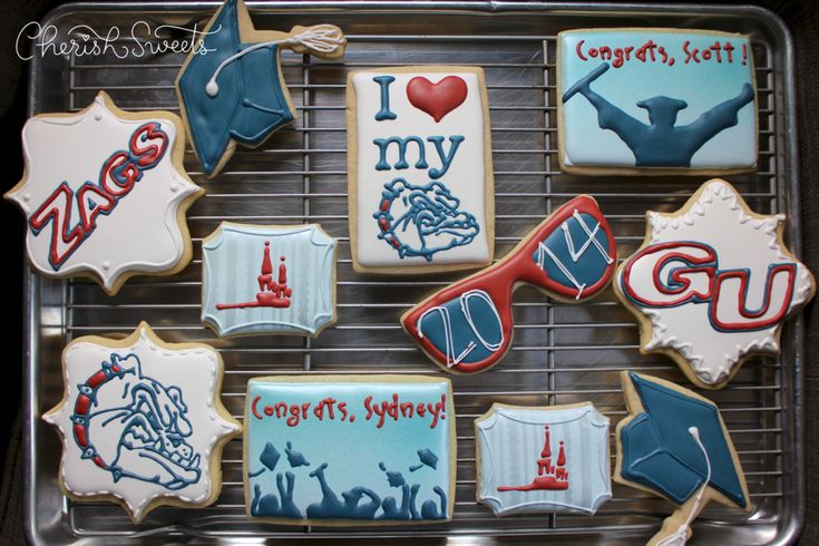 Gonzaga University graduation cookies         By Cherish Sweets      http://www.cherishsweets.com