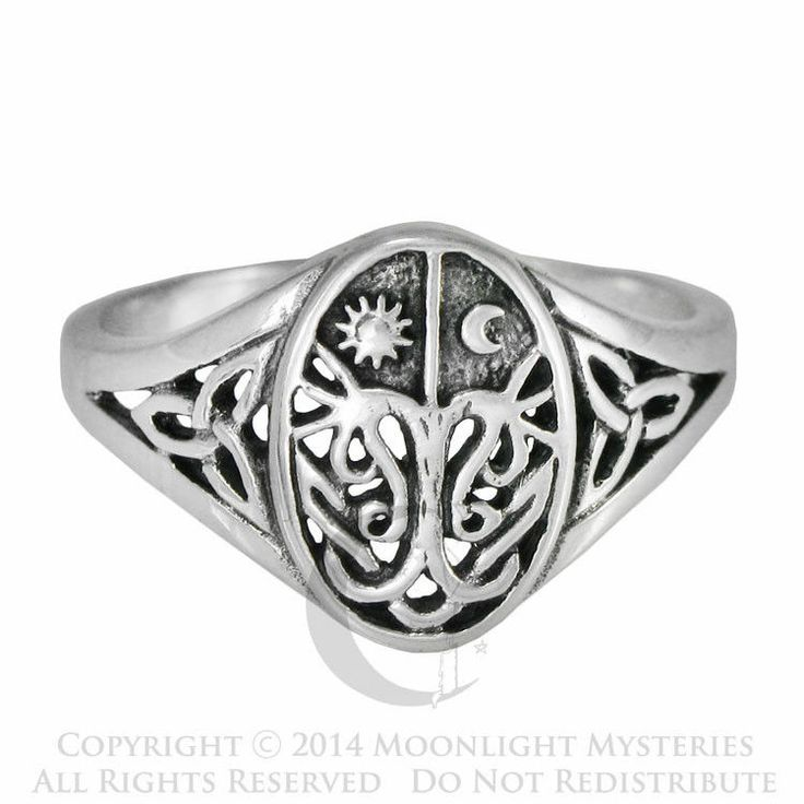 simple sterling silver celtic knot tree of life with sun and moon band ring sizes - Wiccan Wedding Rings