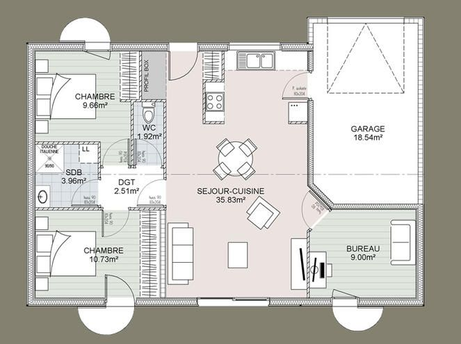 Best Plan Maison Images On   Floor Plans House