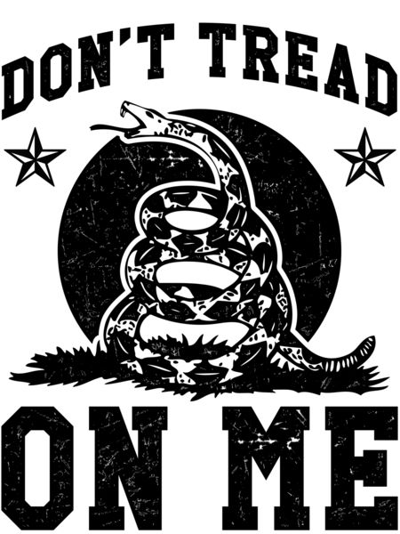 Black White And Snake Dont Tread Me