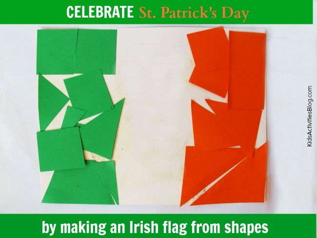 Great St Patricks Day activity for kids {Make the flag of Ireland}