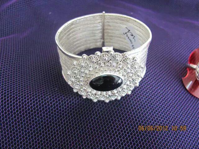 Gümüş hasır bileklik