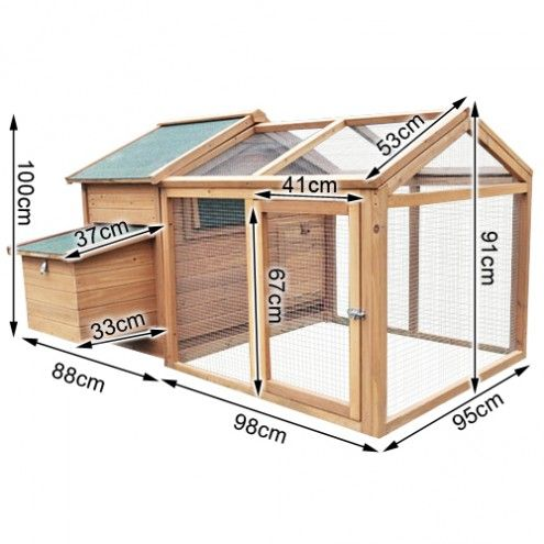 36 best chicken coops images on pinterest chicken coops for Chicken coop dimensions