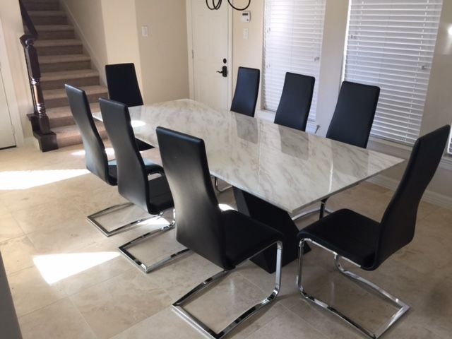 the moscow dining table combines elegance and contemporary design to create a beautiful large modern dining table the top is a solid piece of natural - Large Modern Dining Table