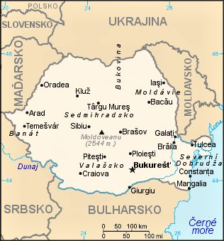 Mapa Rumunska - Rumunsko – Wikipedie