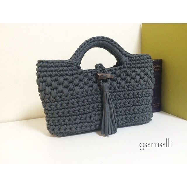 模様編みトート | gemelli