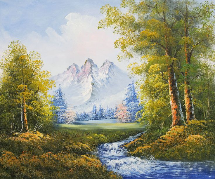 10 Best Images About Mountain River On Pinterest Oil On