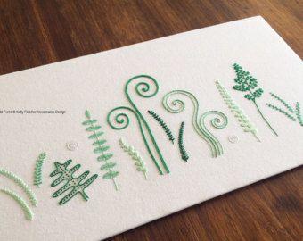Wild Grass modern hand embroidery pattern by KFNeedleworkDesign