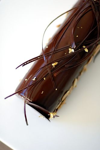December Daring Bakers' Challenge: Entremets au chocolat ~ French Yule Log - 極緻的巧克力樹幹慕斯
