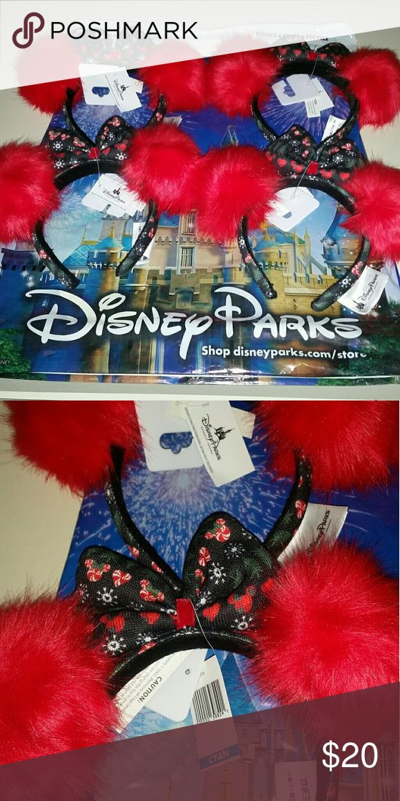 Disney Parks Holiday Puff Minnie Ears I have 4 available... Price is per piece.  All are brand new with tags. Ships from smoke free and pet free home.  Please feel free to contact me with any questions. Disney Accessories Hair Accessories