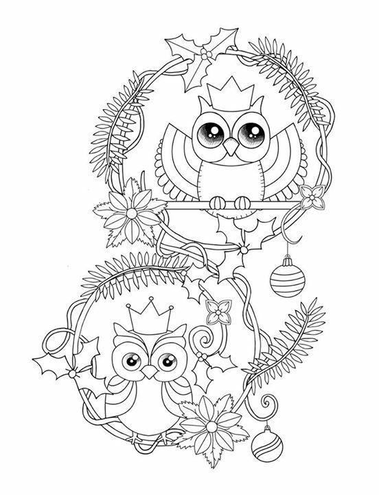 711 best Coloring owls images on Pinterest Coloring books
