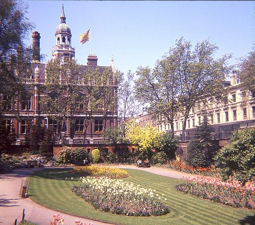 Croydon Clocktower from Town Hall Gardens I had my wedding photos taken in these gardens 23rd April 1977
