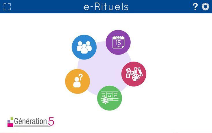 Une application qui permet de gérer les rituels (dates, présents/absents, prénoms, dates, activités, évènements...) en maternelle