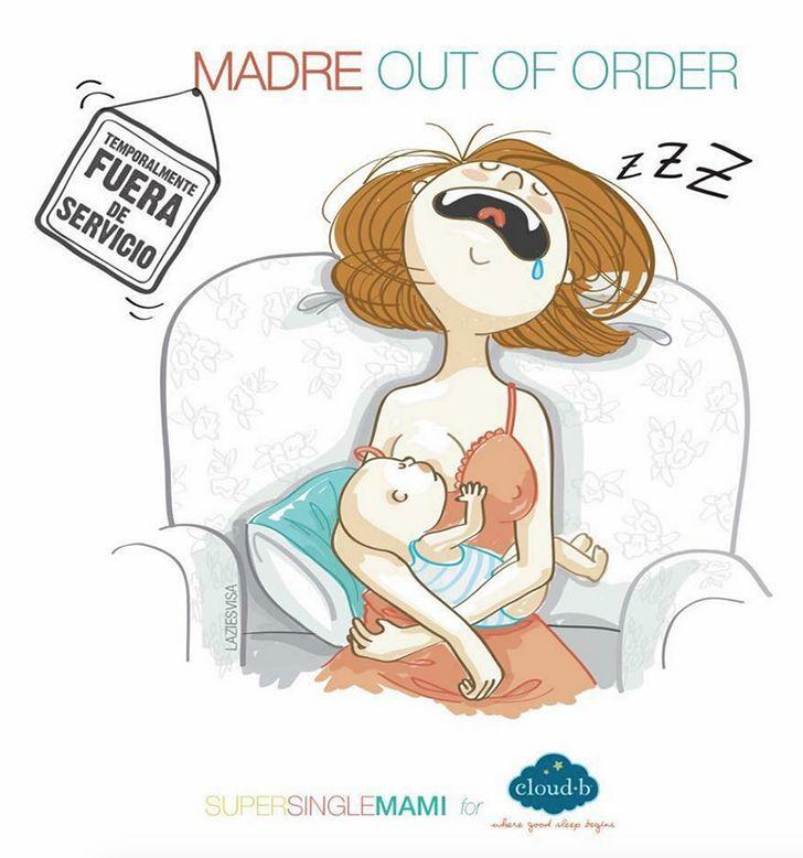 Esta diseñadora recreó en bellas ilustraciones cómo es el ser mamá soltera