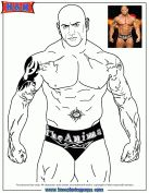 World Wrestling Entertainment WWE Batista The Animal Coloring Page