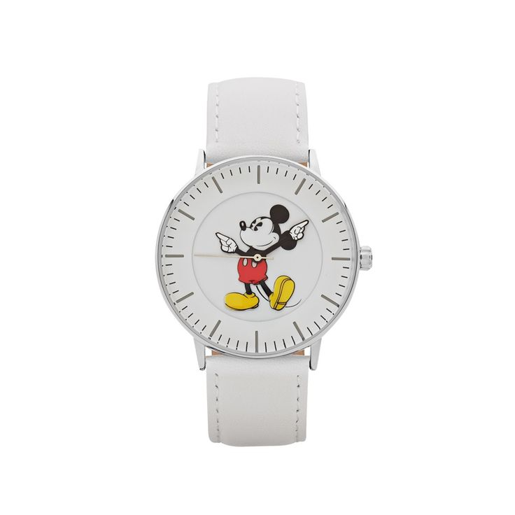 The Original Mickey Collection Watch - Silver + White 40mm