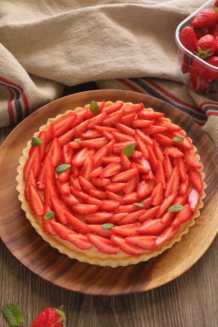 Tarta de frutillas y menta - Strawberry mint tart from Sweetie Pie Chile