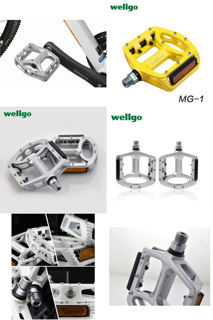 "[Visit to Buy] Wellgo MG-1 Ultralight Aluminum alloy Bicycle Pedal Mountain Bike MTB BMX Bicycle Parts 9/16"" Cr Mo  Bike Pedals bmx for sale #Advertisement"