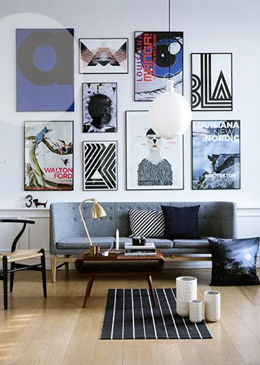 Art Wall | Alt Interiør | Styling : Nicola Kragh Riis | Photo : Line Klein
