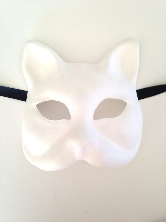 Blank DIY Masquerade Cat Phantom Mask make your own Halloween Costume Party Mask