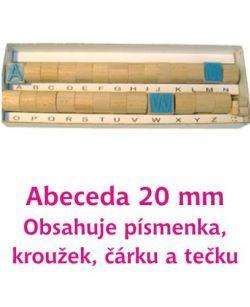 Razítka písmena 20 mm