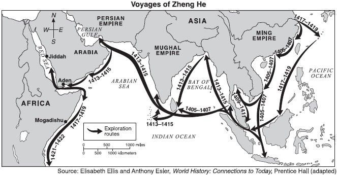 Zheng He was a great explorer who made 7 different voyages.