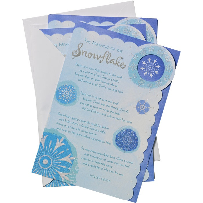Religious Christmas Cards The Meaning Of The Snowflake