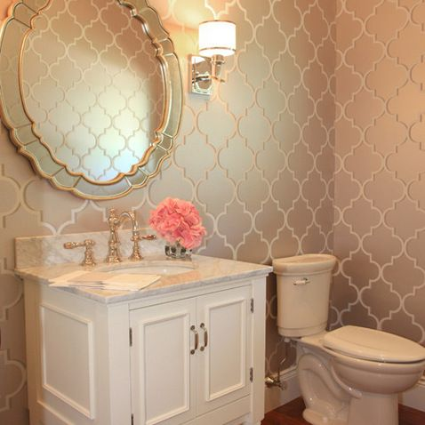 Trellis Wallpaper Design Ideas, Pictures, Remodel, and Decor - page 7