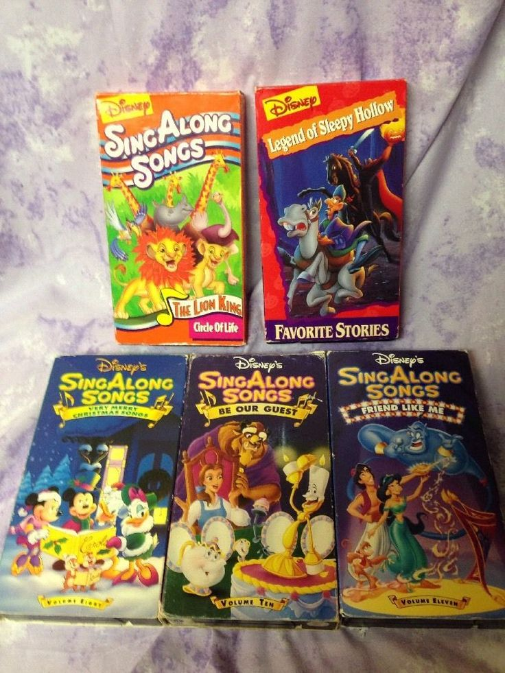 DISNEY SING ALONG SONGS VHS LOT Of 5 Very Merry Christmas Friend Like Me 8 10 11