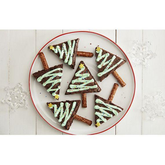 Christmas Brownie Trees