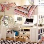 How to Build a Loft Bed for Children and Teenager : Girls Loft Bed Ideas, Loft Bed Ideas, Loft, Bedroom