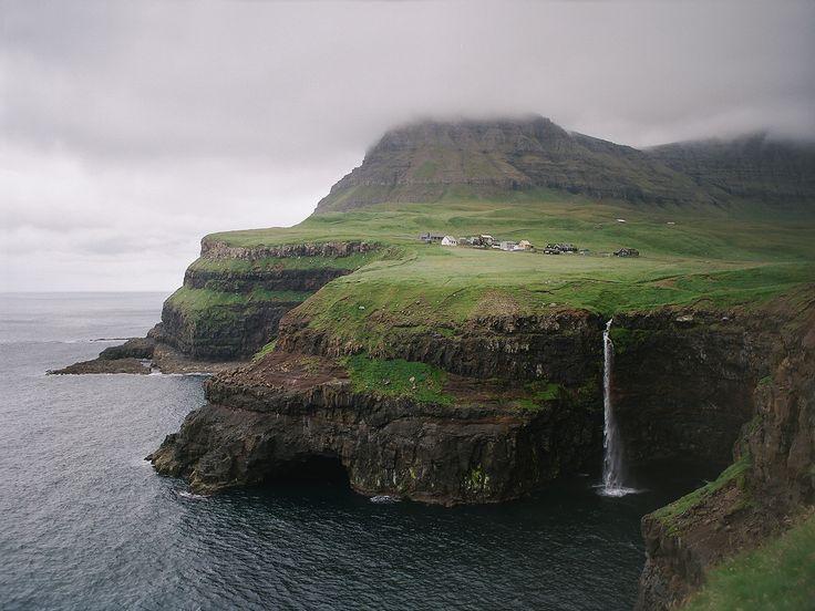Gásadalur, Faroe Islands { by near the lighthouse }