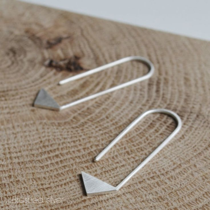 "This pair of sterling silver earrings is the #17 of ""les géométriques collection"", a minimal and original AgJc's design inspired by geometry, perfect to wear every day and an ideal gift for those who"