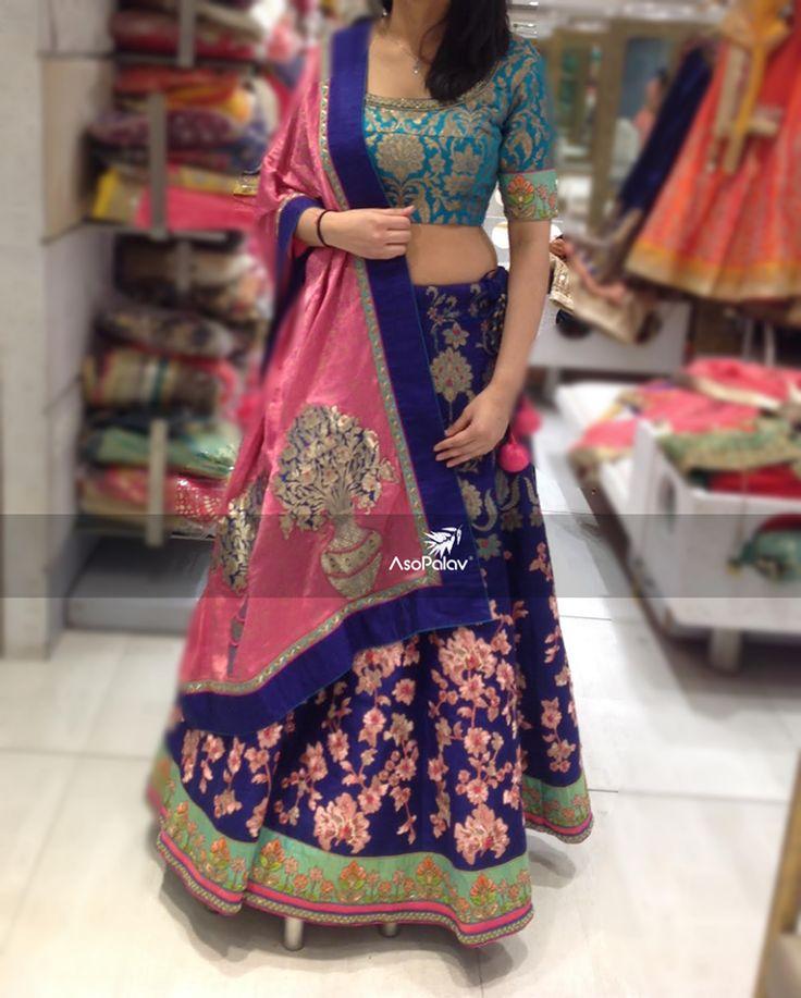 Rule your #DDay with #gorgeous hues! #Asopalav #DesignerCollection #NewCollection #ElegancePersonified #Bridestobe #Indianweddings #BridalSaree #Indianfashion #BigFatIndianWeddings #Bridalwear #BridalElegance #NewGenerationBrides #IndianEthnicWear #bridalboutique #bridalinspiration #Weddingseason