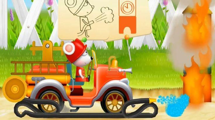 Carros de bombeiros para crianças/Caminhões de bombeiros respondendo/Des...